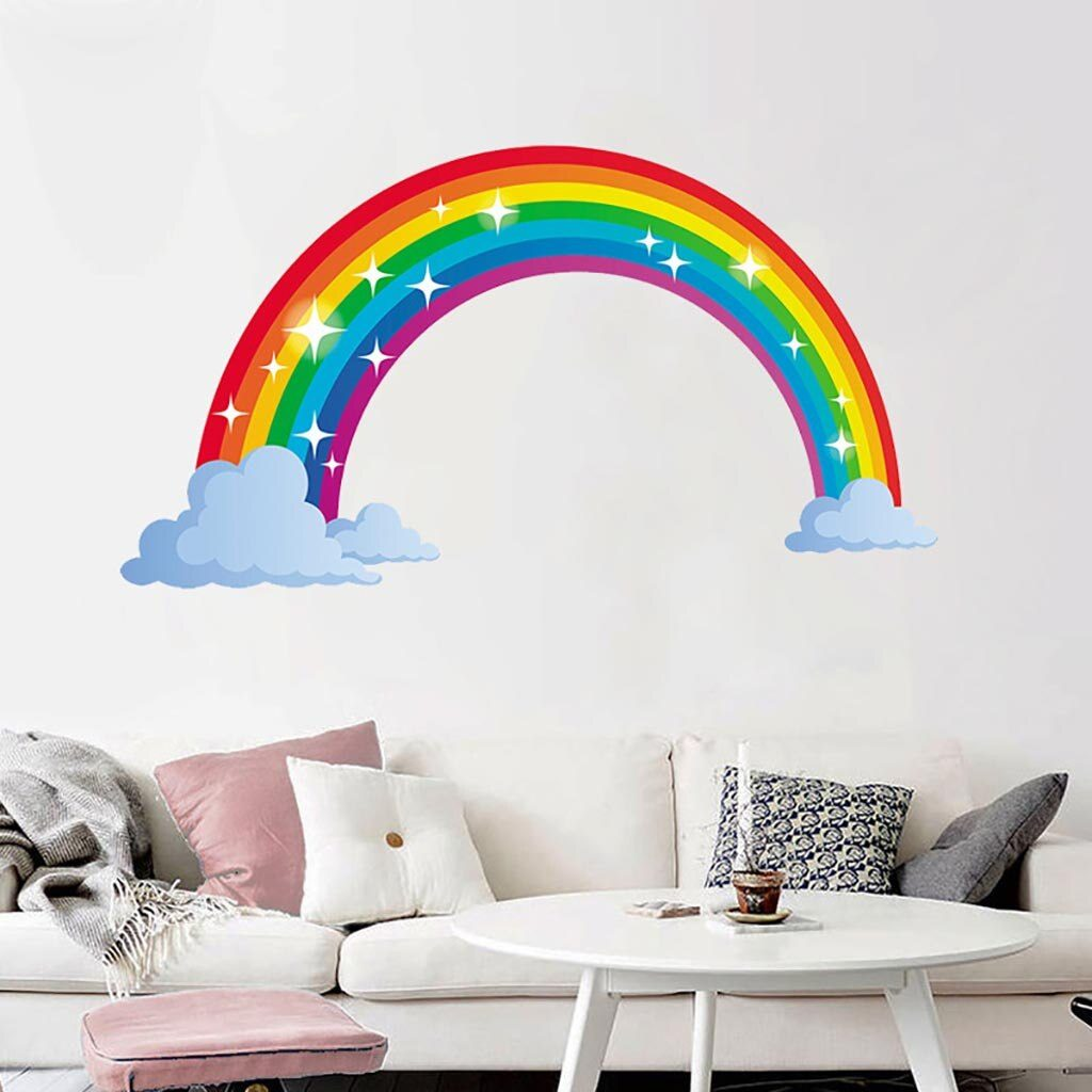 rainbow wall decor rainbow kids room rainbow bedroom rainbow nursery decor pastel rainbow room decor